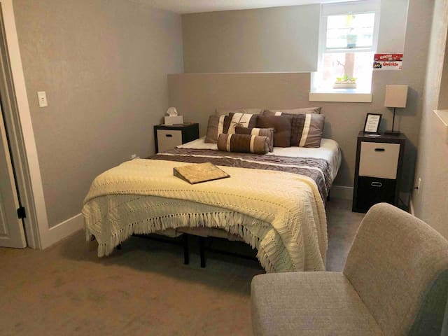 Beautiful room near downtown and blocks from CFD!