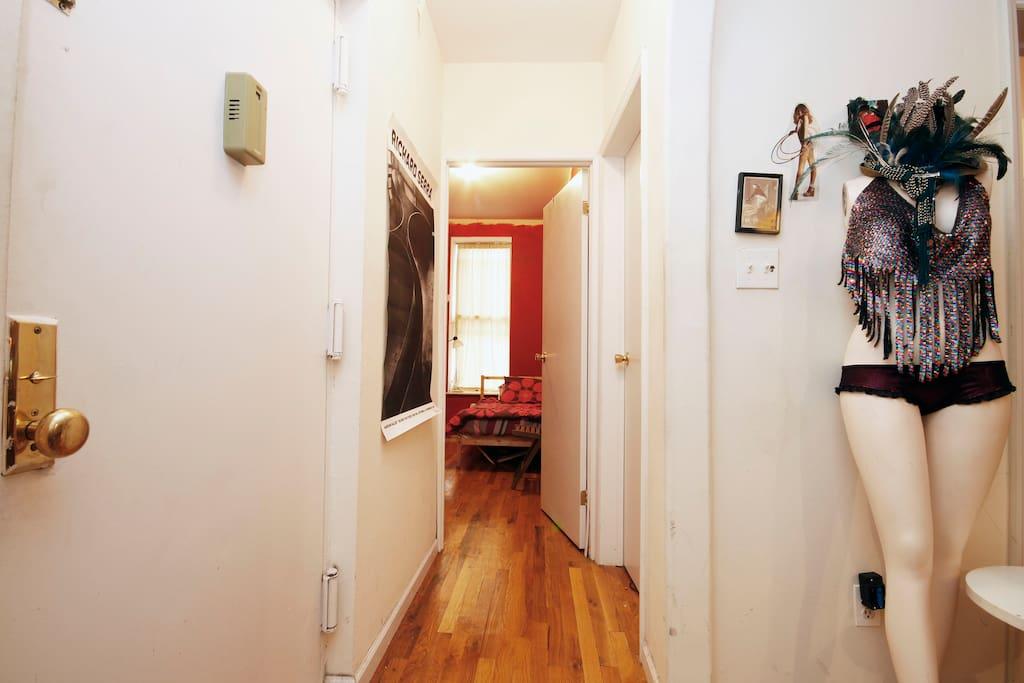 Hallway to your room