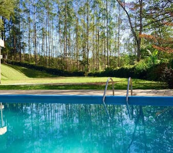 Rustic-chic| Open fire, hammocks, pool near SP! - Santa Isabel