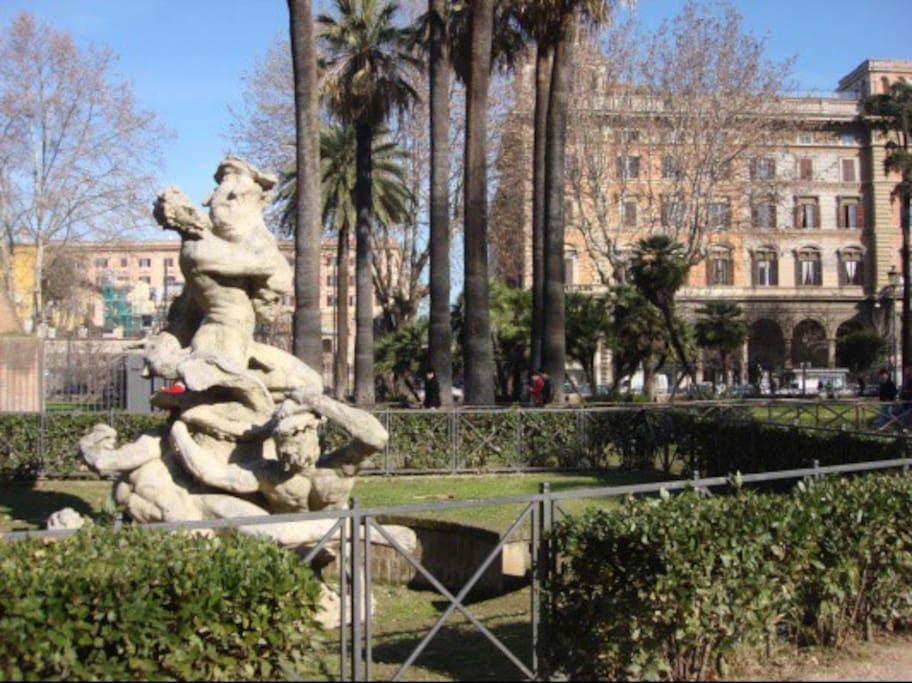 The park in Piazza Vittorio