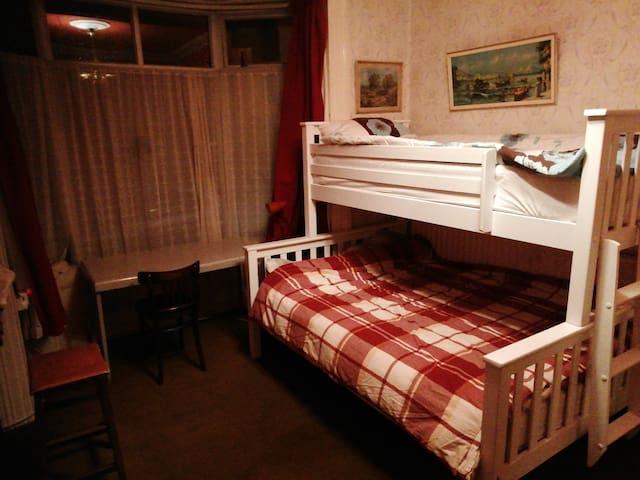 Private bedroom, sleeps up to 3  people