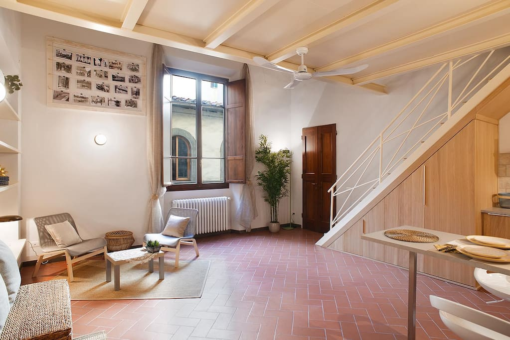 An extremely spacious 1BR flat, most ideal for couples or single guests visiting Firenze