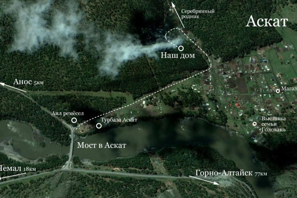 Карта местности, достопримечательности.