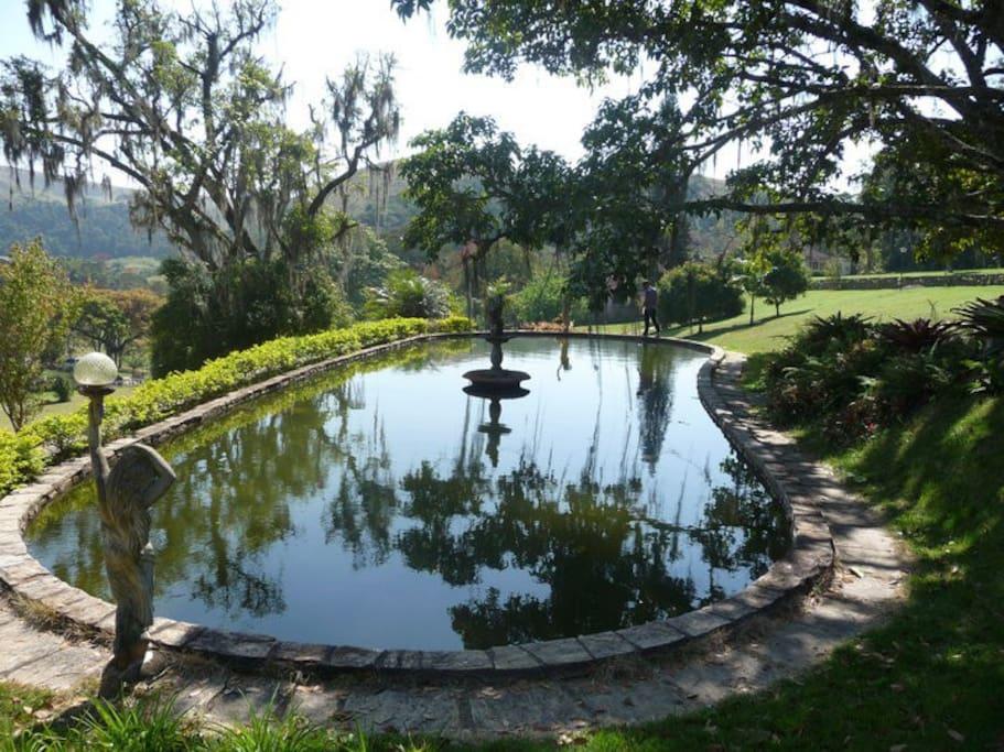 Lago no gramado central