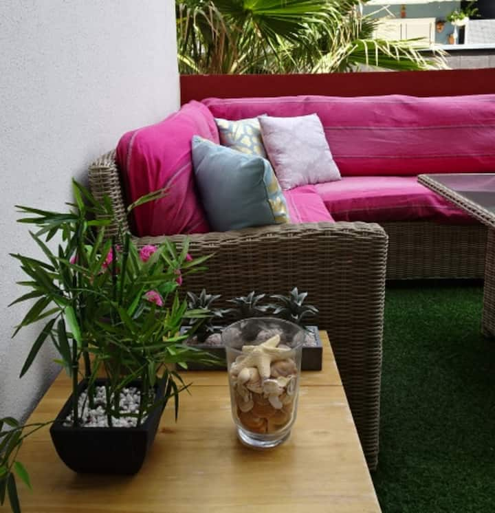 Sea front, cosy apartment in Puertito de Güimar