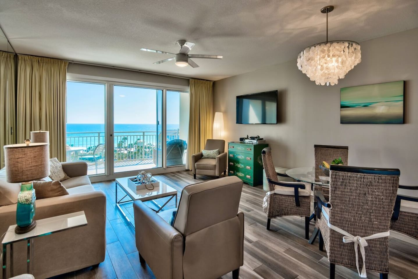 All the comforts of  home right next to the glistening turquoise waters of the Gulf.