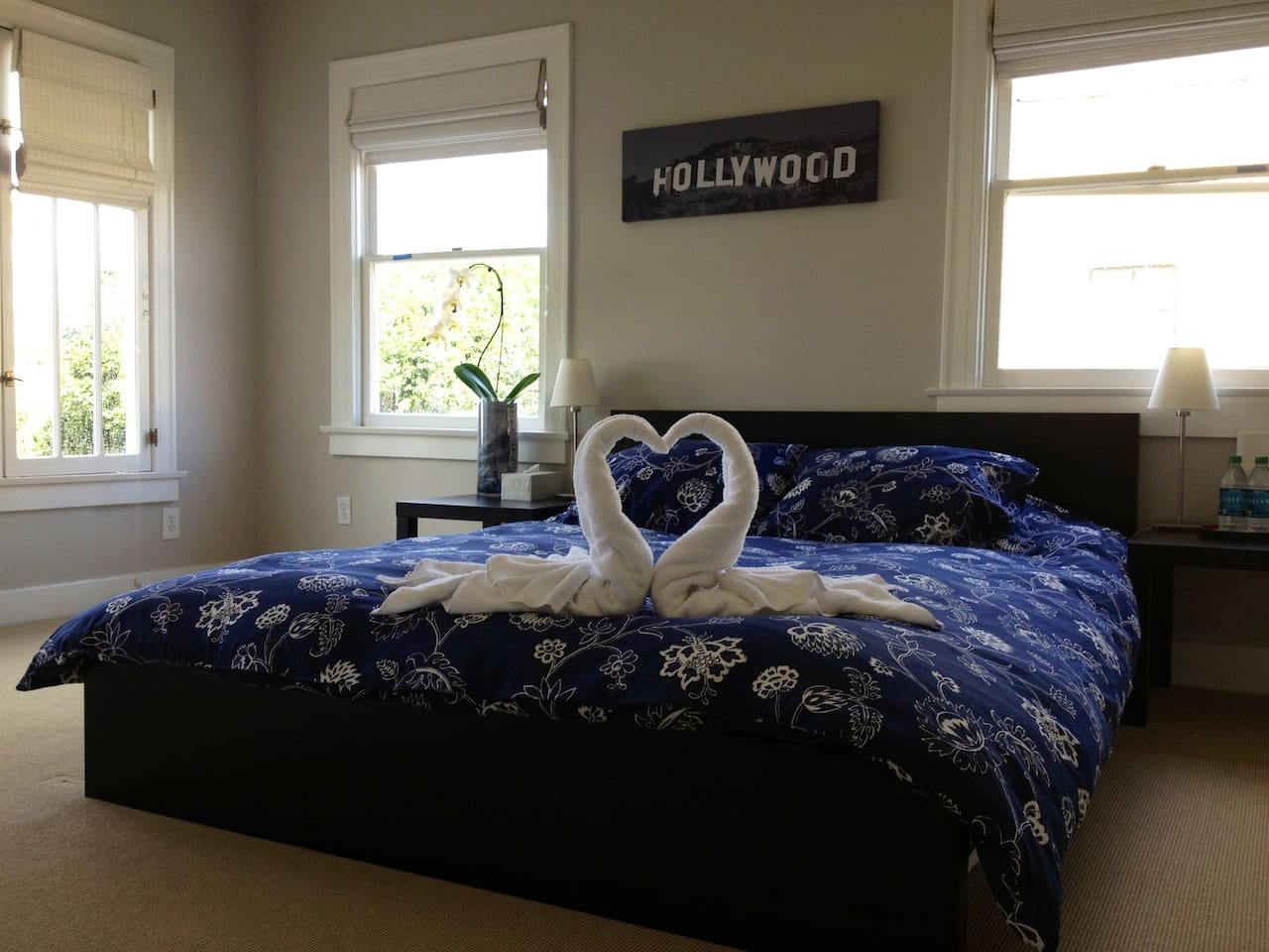 Mahalo Bedroom includes Queen Size Bed, Sofa, Large Closet, Lots of Natural Light