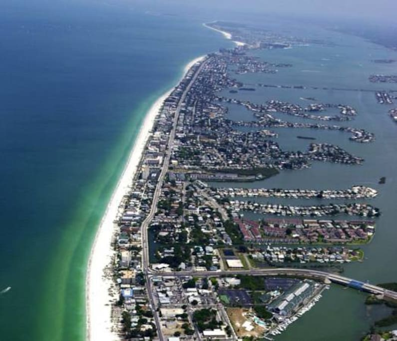 Aerial view of Indian Rocks Beach