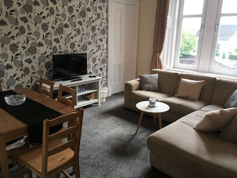 Two bedroom apartment in costal Saltcoats town