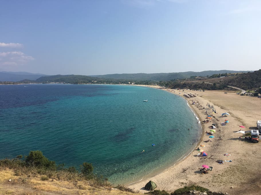 General view of the beach from the ancient tower