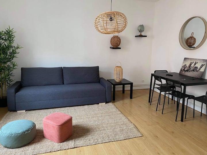 Bel appartement 3 pièces à 2 minutes de la ville !