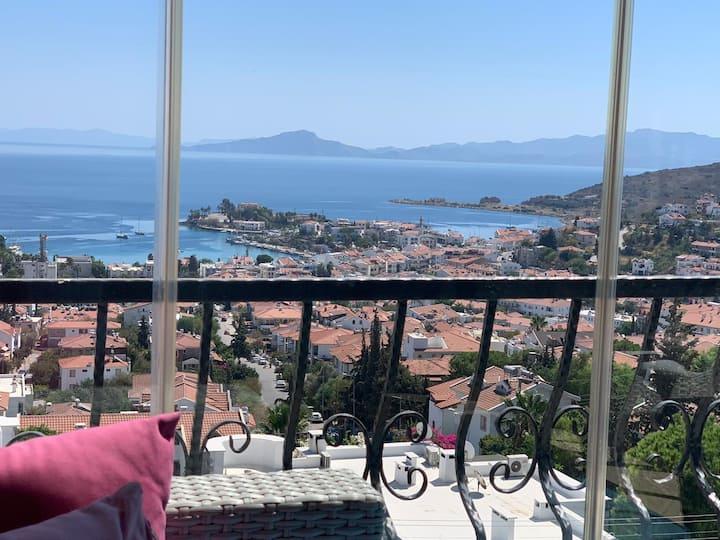 Muhteşem Deniz Manzaralı Büyülü Ev Datça