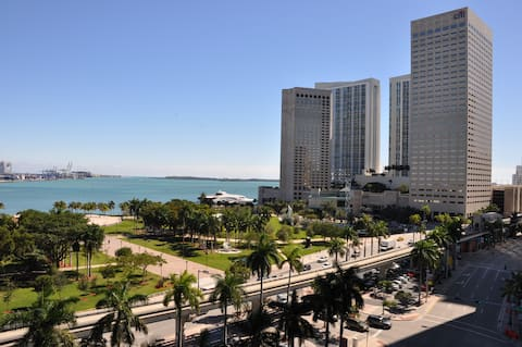 Beautiful view from the Bay, Downtown Miami