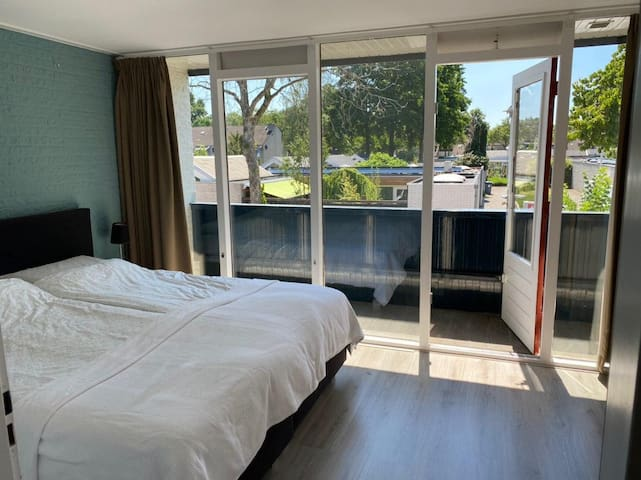 The master bedroom, double bed