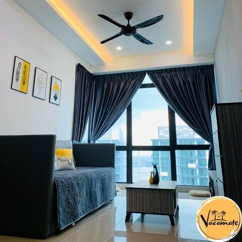 Stylish Johor Bahru Condo★High Floor★2 Rooms★5 pax