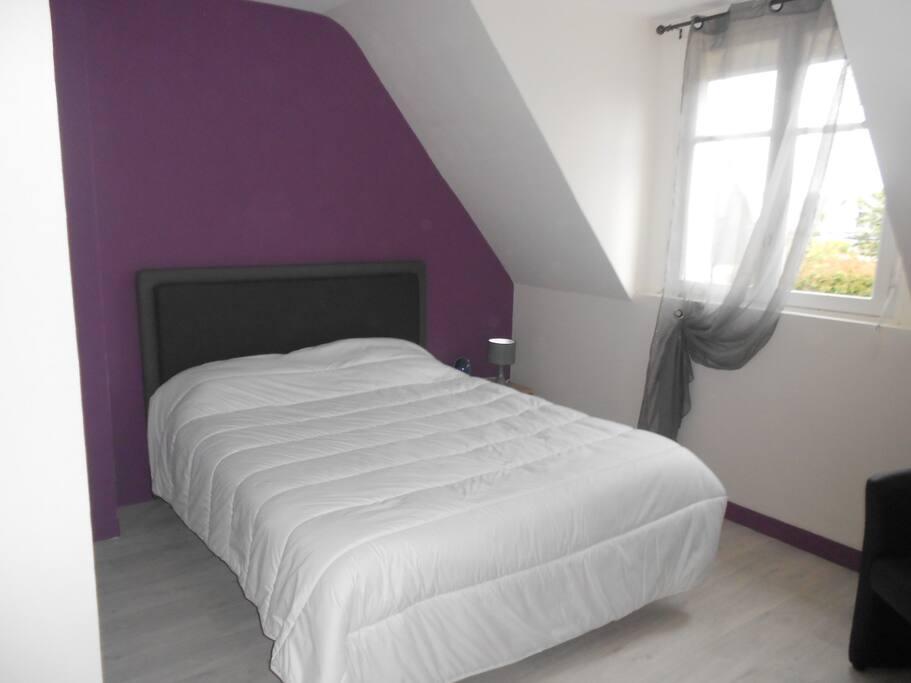 chambre 1 lit 160cm avec tv