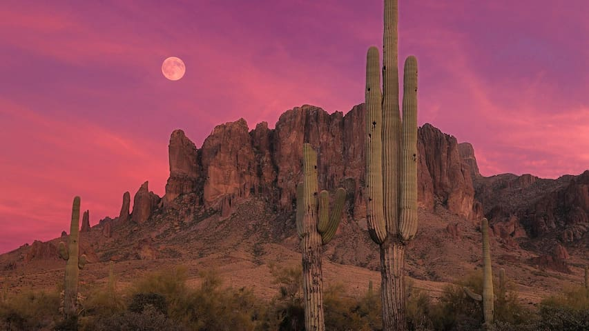 Desert Mountain Sunsets - Apache Junction - Dom