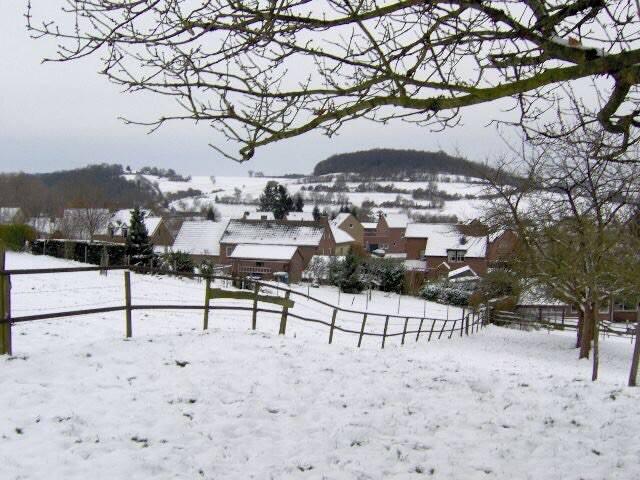 Limburgs heuvelland in wintertime