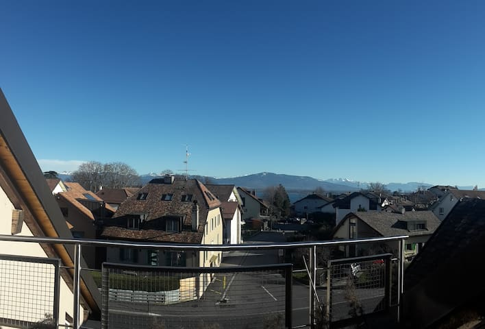 Loft style apt. about 80m2 + patio! - Crans-près-Céligny - Appartement