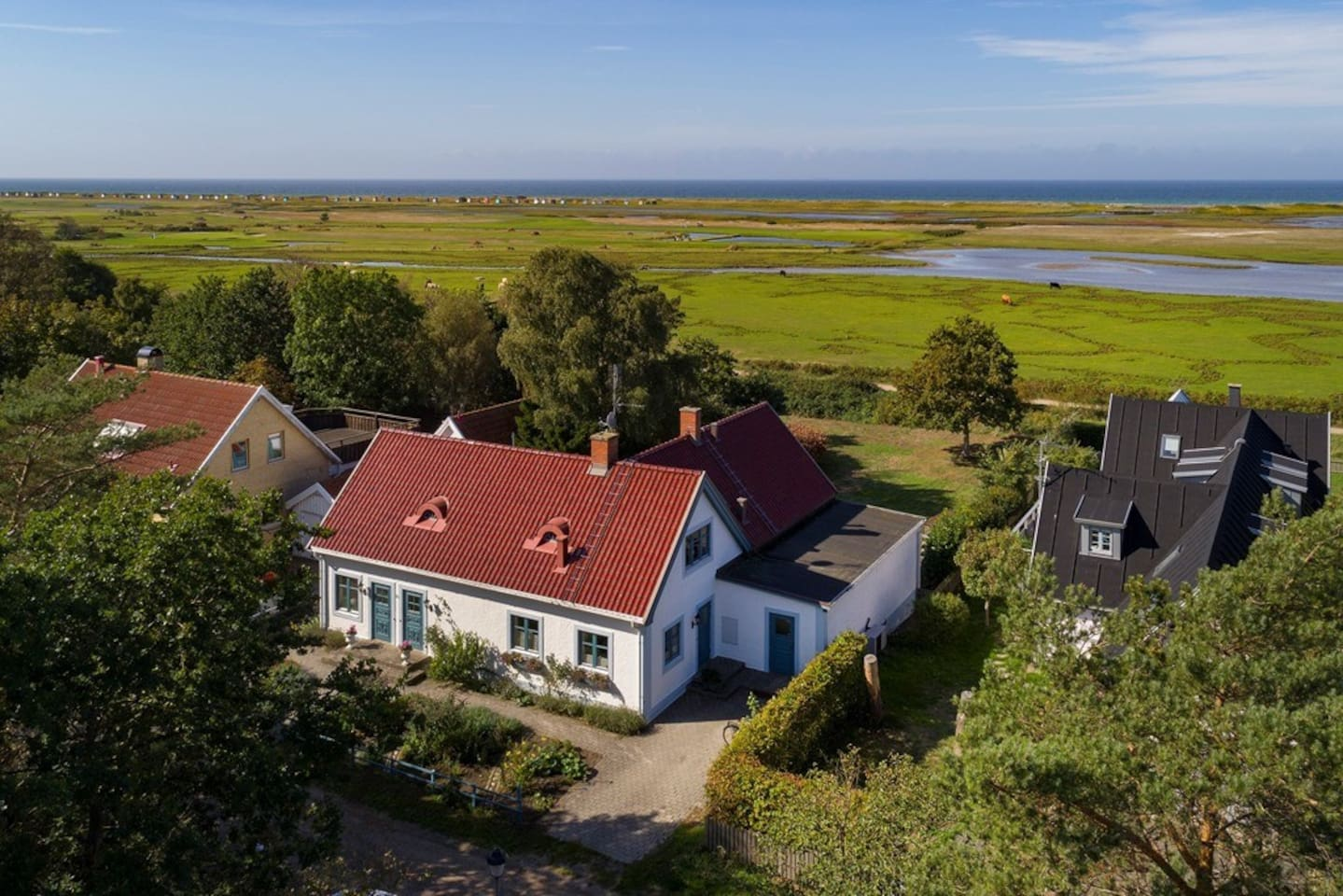 The house from a drone