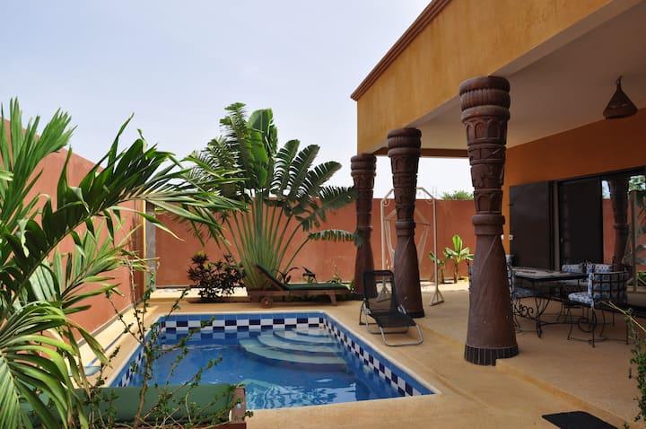 """Charmante villa en location Ngaparou """"Keur Awa"""""""