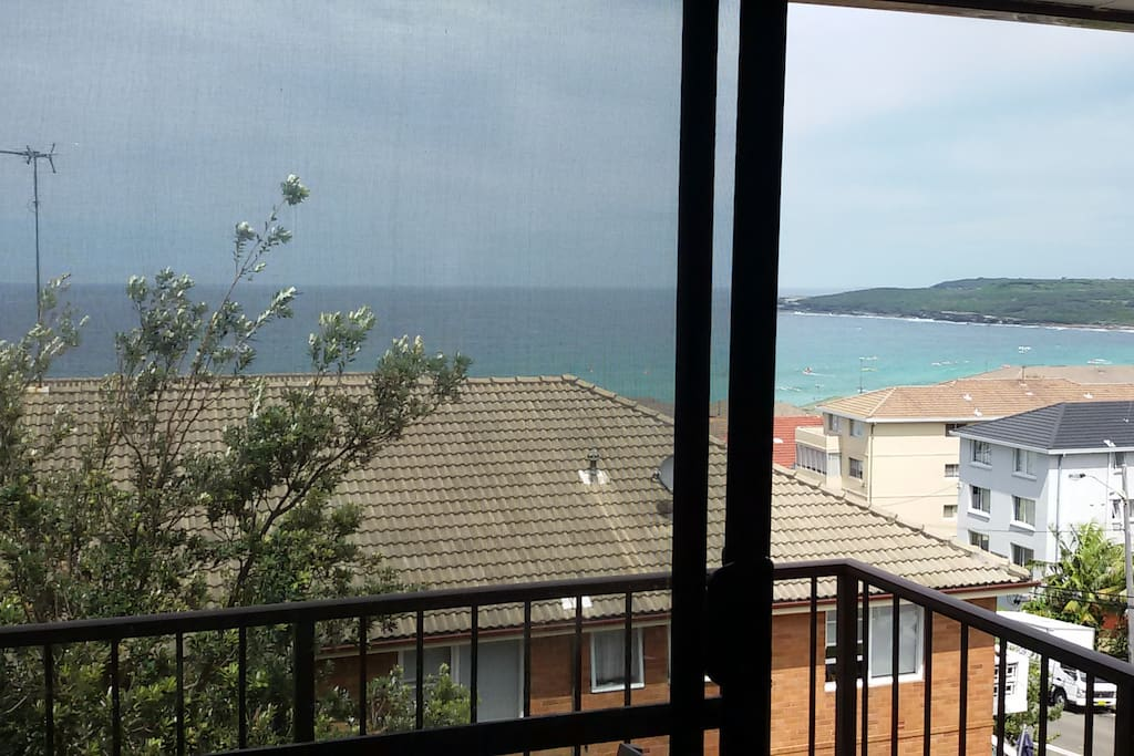 Ocean view from lounge room