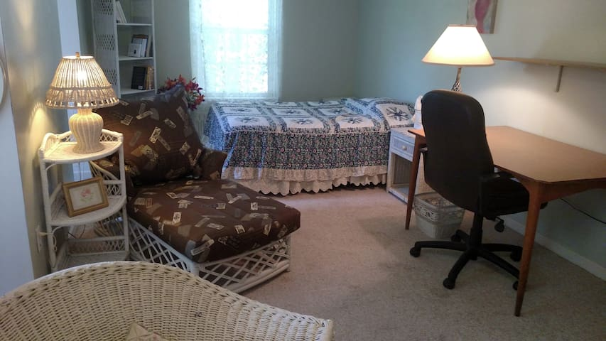Charming, large, sunny, queen bedroom; nice hosts - Bedminster Township - Hus