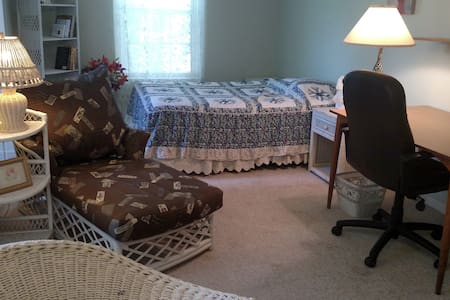 Charming, large, sunny, queen bedroom; nice hosts - Bedminster Township