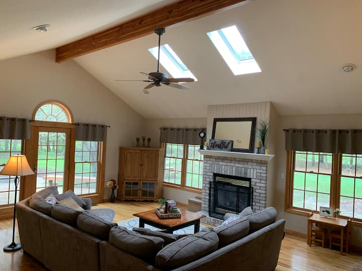 Beautiful 2 bedroom home on 6 wooded acres.