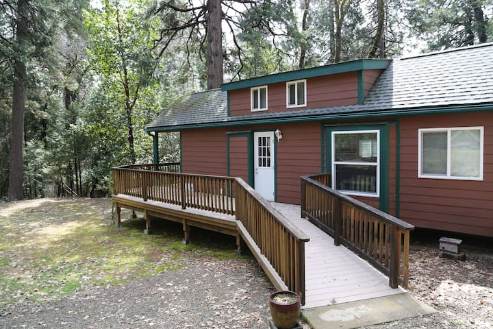 Cabin by the cedars.