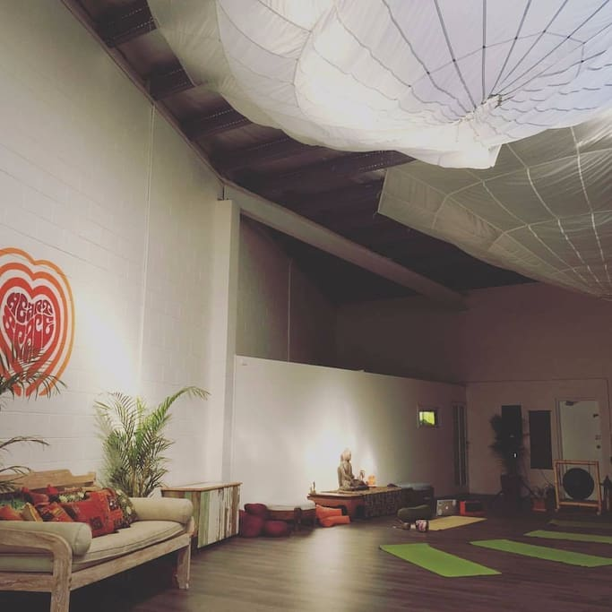 Main space is a yoga studio which is free to use.