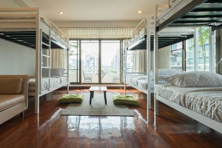 1 Bed in a share room (6 beds) #01 - Bangkok - Leilighet