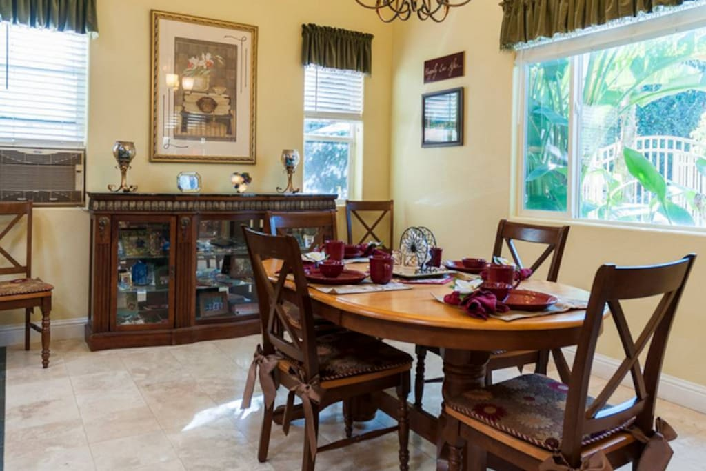 View of dining area.