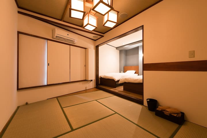 Superior Twin Room with private bath and toilet