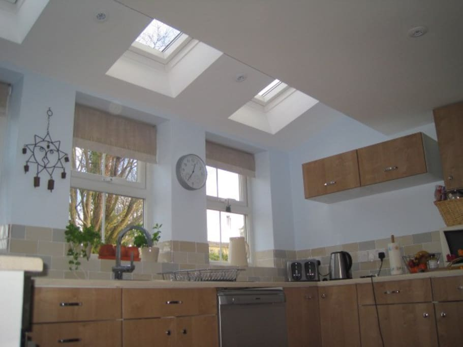 The Velux windows makes the kitchen lovely