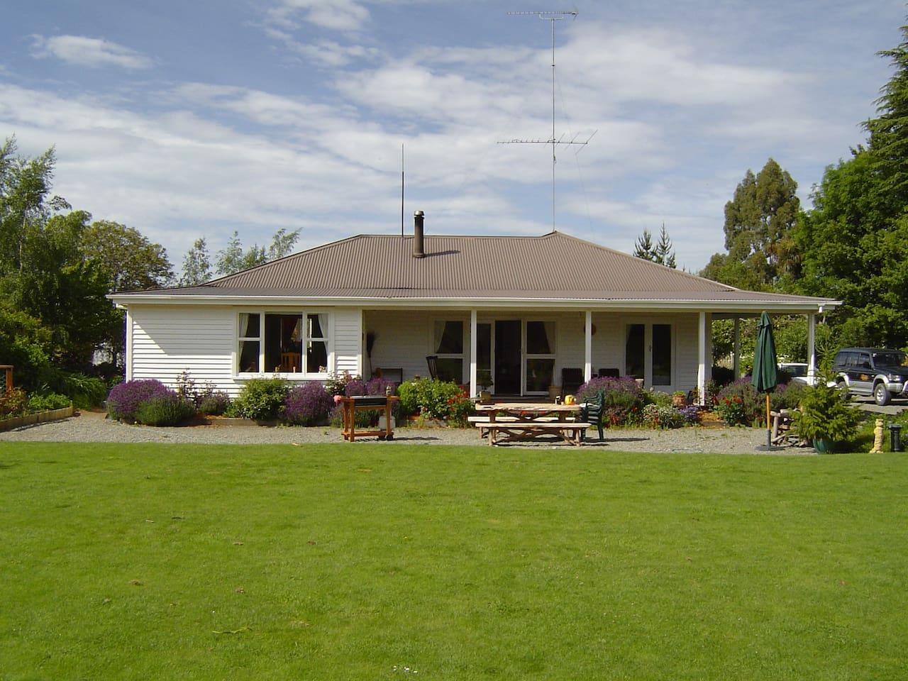 Traditional New Zealand villa.