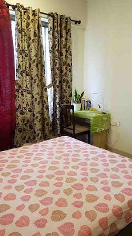 Bedroom, Memory Foam mattress with cupboard and  Study Table & chair with Hi Speed 5GHz Internet