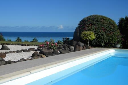 Logement calme et confortable, piscine, vue lagon - MOOREA