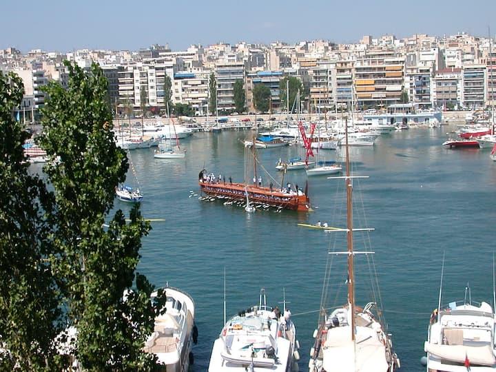 Pireas Penthouse w  Stunning View of Yacht Marina