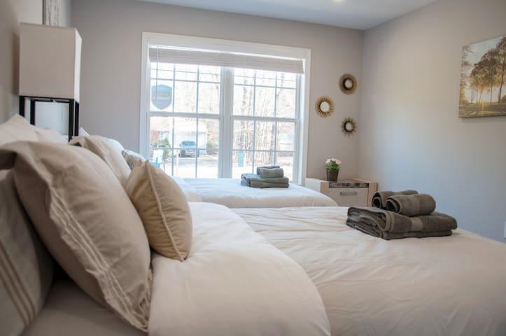 Downstairs bedroom #1 sleeps 4 people
