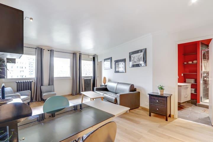 A Stylish 1-BDR Apartment near the Eiffel Tower