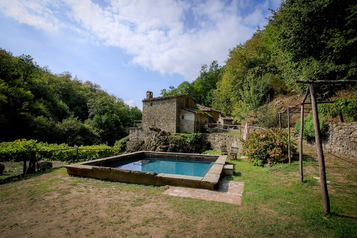 "Ancient mill in the ""green hearth"" of Tuscany"