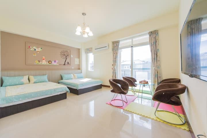 (高cp值)溫馨可可 小型家庭房 - 兩大床親子房型
