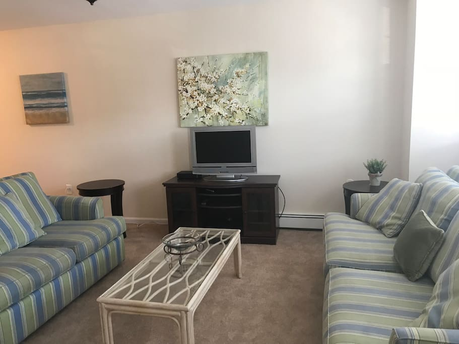 Open concept living room with great kitchen including washer and dryer! Very clean and cozy! First floor unit