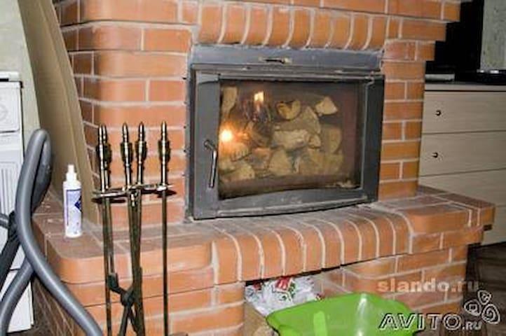 Дом с камином и баней - Коробицыно