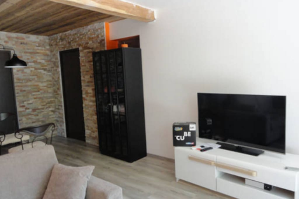 Le salon (2) avec Canal + et les chaines internationales