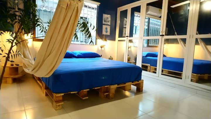 Fancy master bedroom near Cartagena walled city