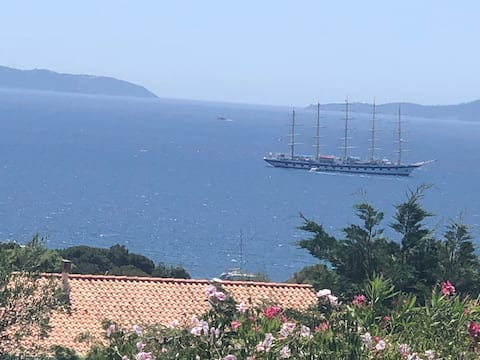 Vue sur les îles du Levant et Port Cros climatisée