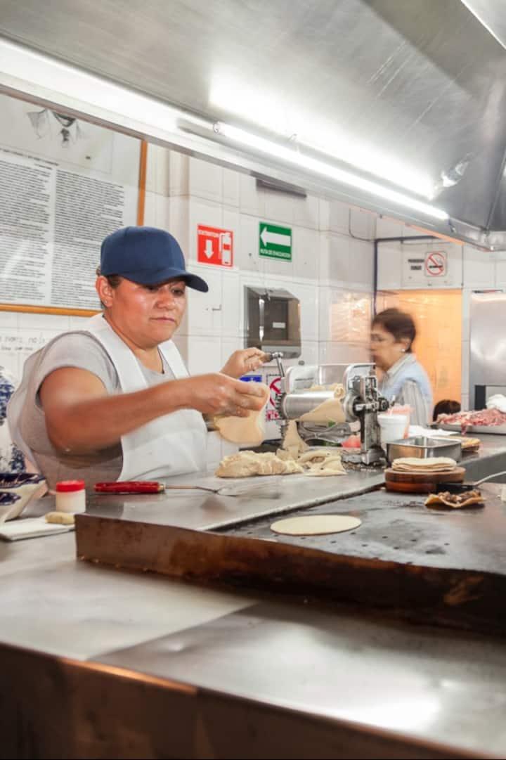 Fresh hand made corn tortillas