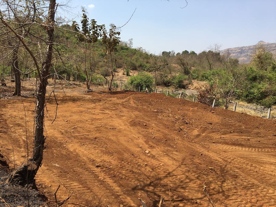 See the farm land getting prepared for growing super crops soon and touching the river